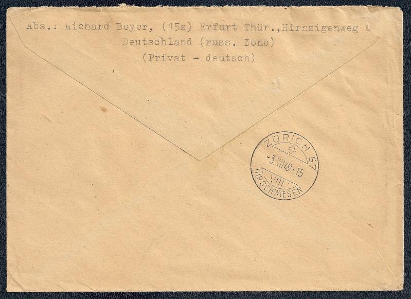 DDR - Briefmarkenausgaben 1949  Scann849