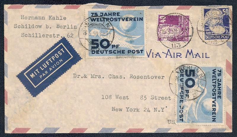 DDR - Briefmarkenausgaben 1949  Scann850