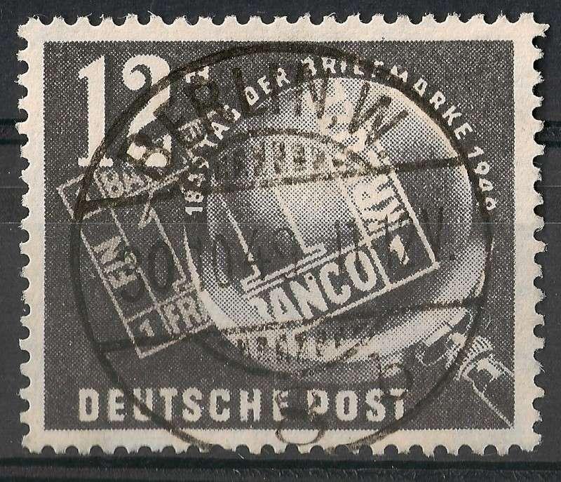 DDR - Briefmarkenausgaben 1949  Scann866