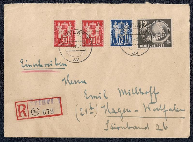DDR - Briefmarkenausgaben 1949  Scann867