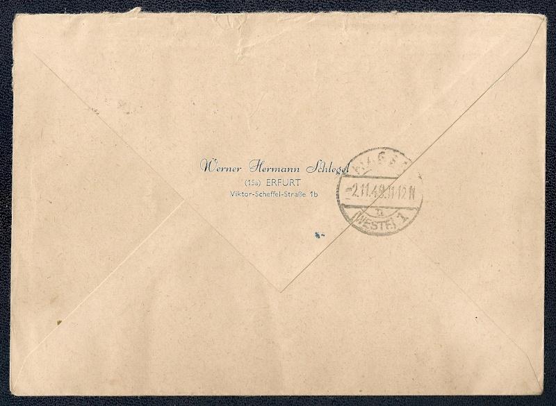 DDR - Briefmarkenausgaben 1949  Scann868