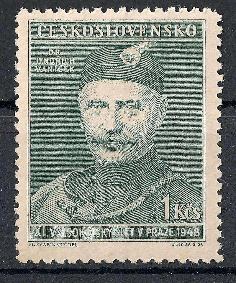 Tschechoslowakei - Briefmarkenausgaben 1948 Scann909