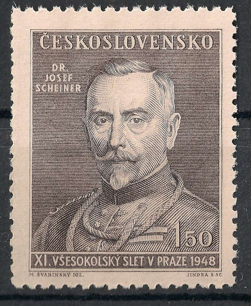 Tschechoslowakei - Briefmarkenausgaben 1948 Scann910