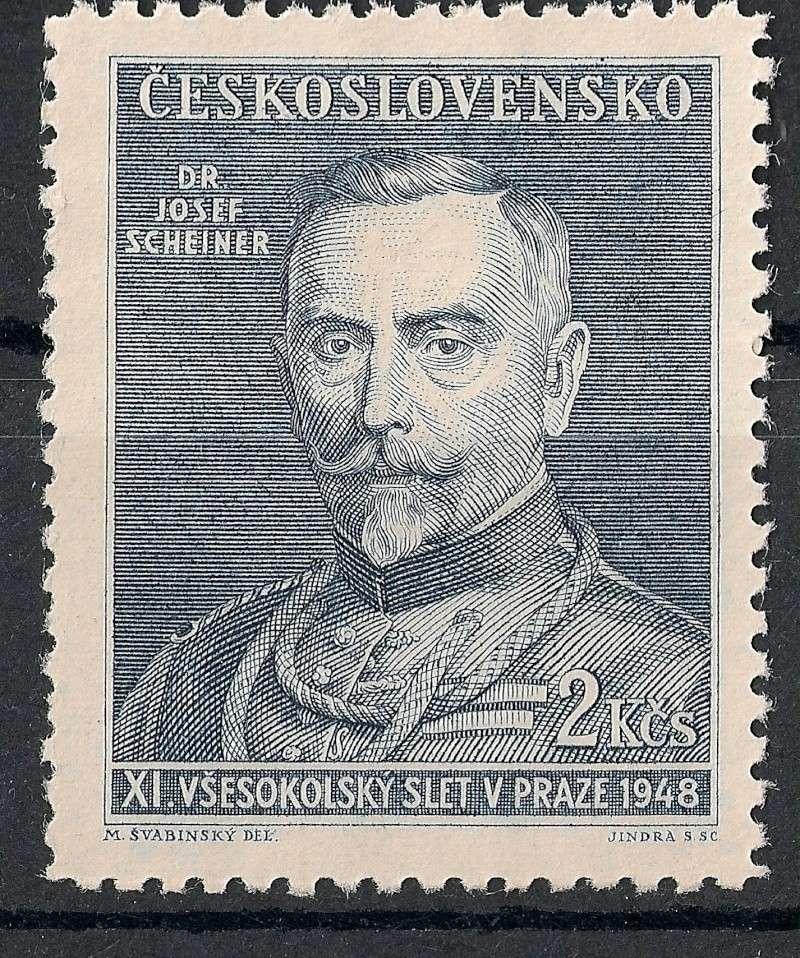 Tschechoslowakei - Briefmarkenausgaben 1948 Scann911