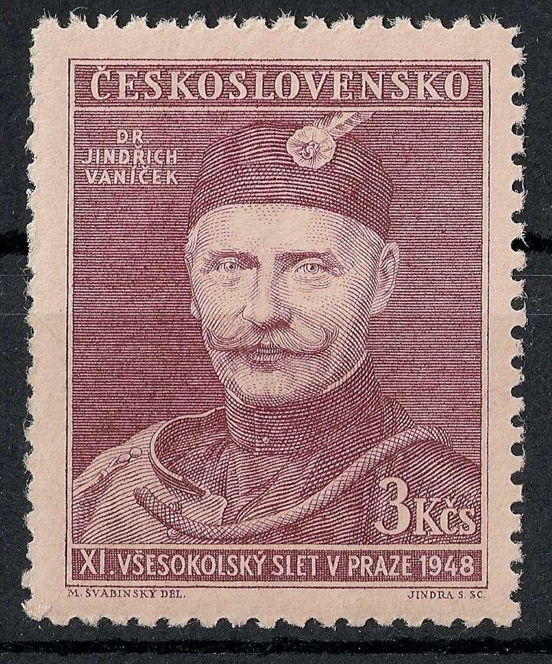 Tschechoslowakei - Briefmarkenausgaben 1948 Scann912