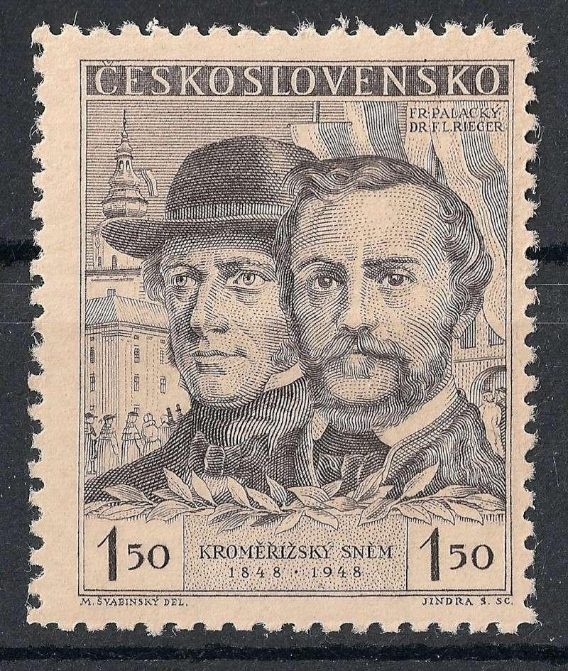Tschechoslowakei - Briefmarkenausgaben 1948 Scann913