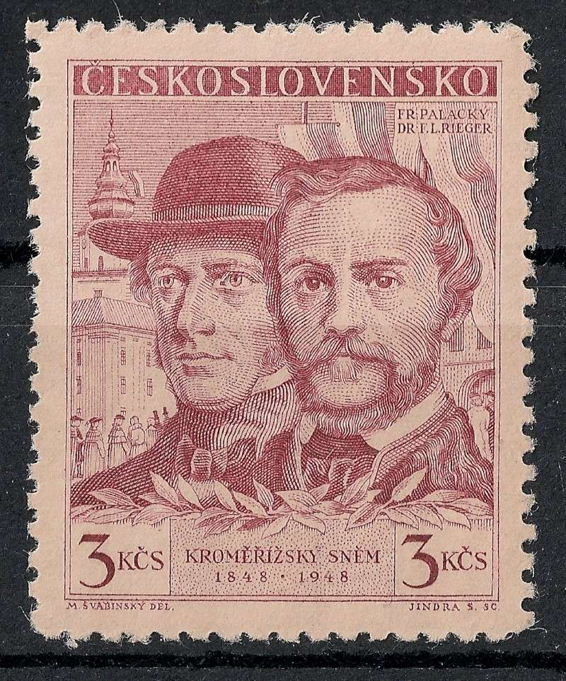 Tschechoslowakei - Briefmarkenausgaben 1948 Scann914
