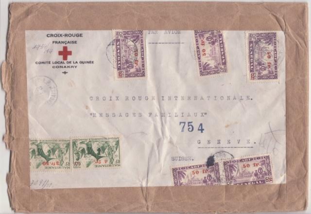 Lettre de Conakry affranchie à 257f.50 pour le CICR. _10f_810