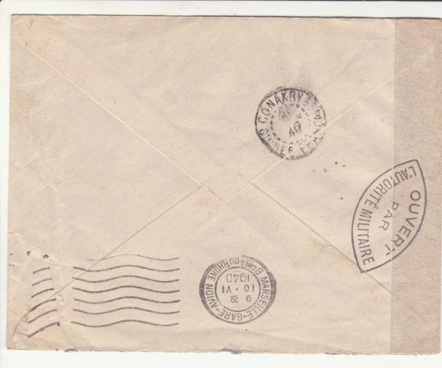 Guinée; bande de fermeture de la 1°période utilisée en décembre 1941 !! _1d00110