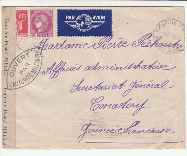 Guinée; bande de fermeture de la 1°période utilisée en décembre 1941 !! _1f00110