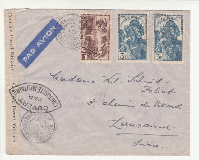 Guinée; bande de fermeture de la 1°période utilisée en décembre 1941 !! _1f00111