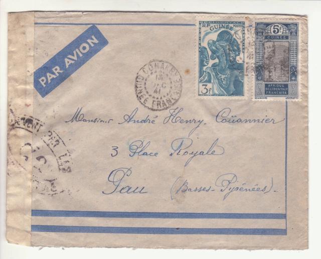 Guinée; bande de fermeture de la 1°période utilisée en décembre 1941 !! _2f00110