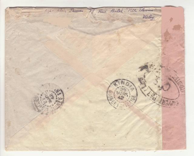 Guinée; bande de fermeture de la 1°période utilisée en décembre 1941 !! _4d00110
