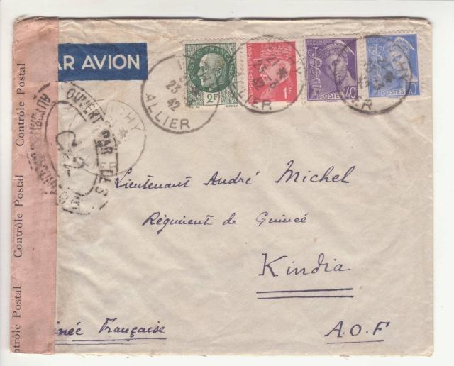 Guinée; bande de fermeture de la 1°période utilisée en décembre 1941 !! _4f00010