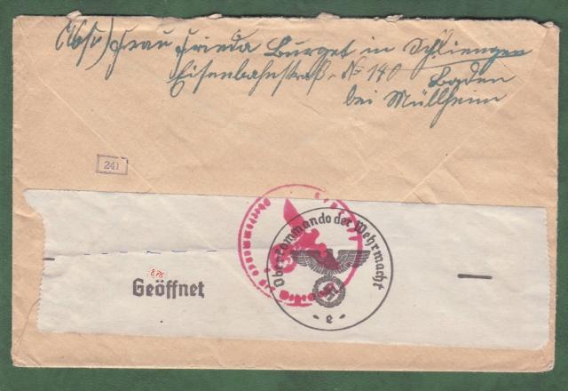"""Les marques des censeurs """"lecteurs"""" des centres de contrôle allemands : e Francfort/Main. _a_1a10"""