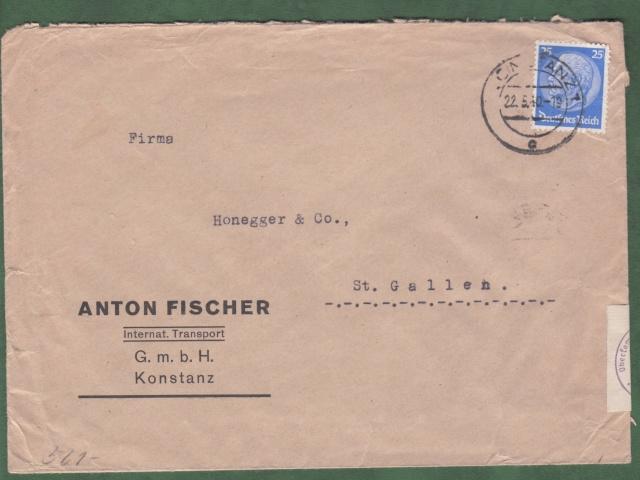 """Les marques des censeurs """"lecteurs"""" des centres de contrôle allemands : e Francfort/Main. _e_1210"""