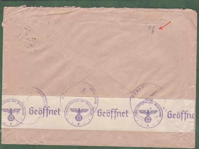 """Les marques des censeurs """"lecteurs"""" des centres de contrôle allemands : e Francfort/Main. _e_12a10"""