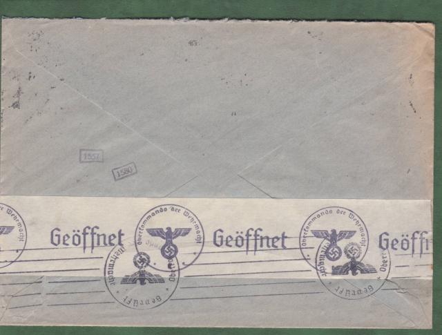 """Les marques des censeurs """"lecteurs"""" des centres de contrôle allemands : e Francfort/Main. _e_14a10"""