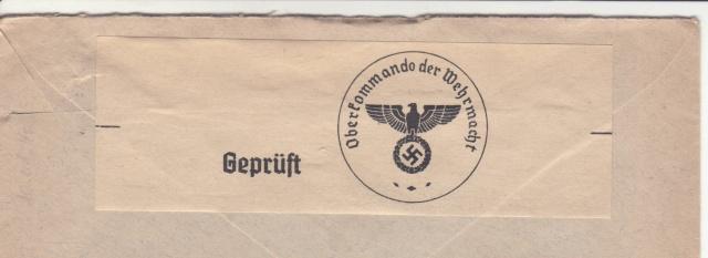 """Les marques des censeurs """"lecteurs"""" des centres de contrôle allemands : e Francfort/Main. _e_210"""