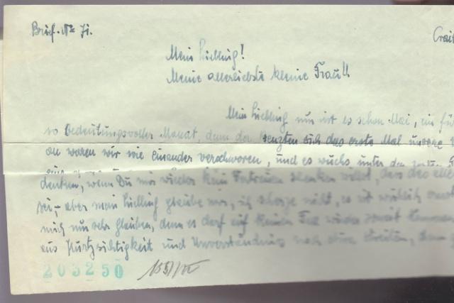 """Les marques des censeurs """"lecteurs"""" des centres de contrôle allemands : g  Vienne _g710"""