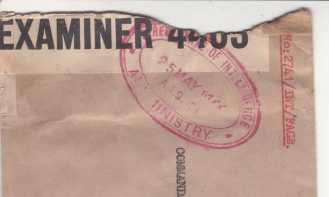 Lettre de EM de l'armée de l'air de Londres pour Alger. _gb_210