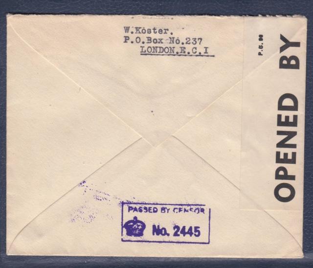 Adresse de liaison / Undercover addresse connue P.O. Box 237. _gb_710