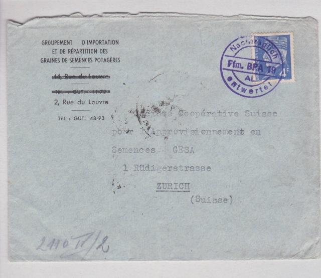"""Les marques des censeurs """"lecteurs"""" des centres de contrôle allemands : n : Nancy. _l1511"""