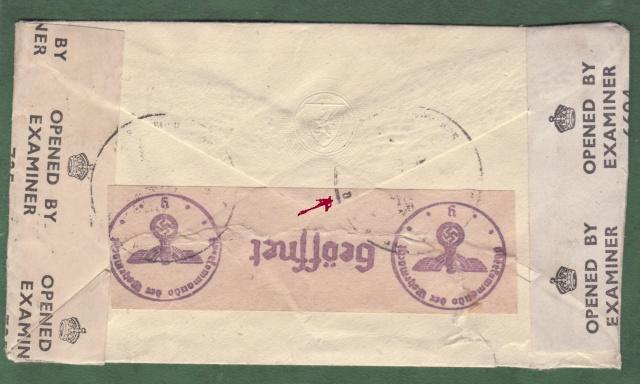 Lettre de Londres pour la Suisse contrôlée à Nancy. _nancy11
