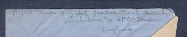 """Le Batiment de ligne """" Richelieu """" incorporé dans la Royal Navy _ri_1c10"""