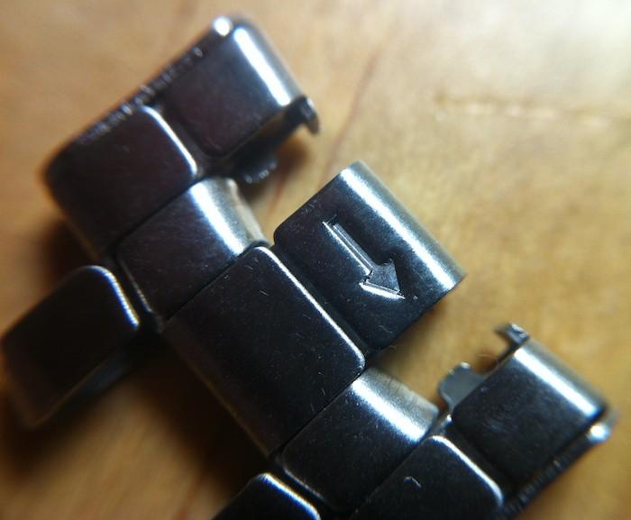 Démontage des maillons du bracelet métallique des Amphibia Photo-26