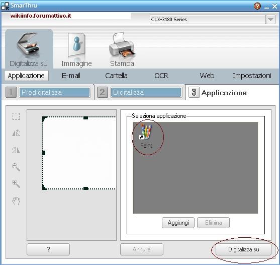 Come fare una scansione con una stampante CLX-3185FW Samsung  Guida410