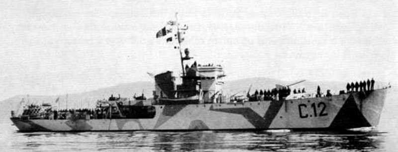 Les corvettes italiennes du type Gabbiano  C12_pr10