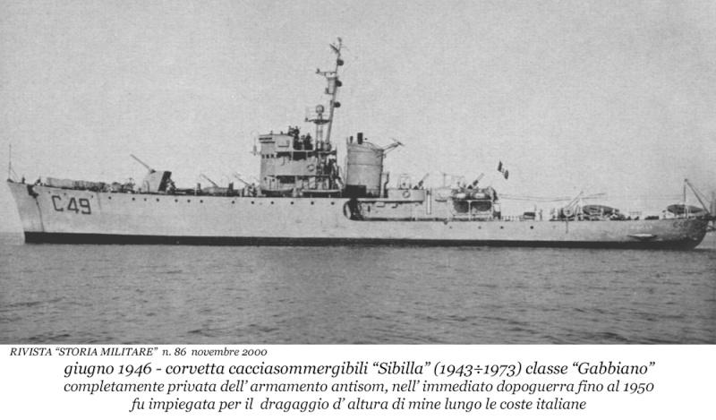 Les corvettes italiennes du type Gabbiano  C49_si11