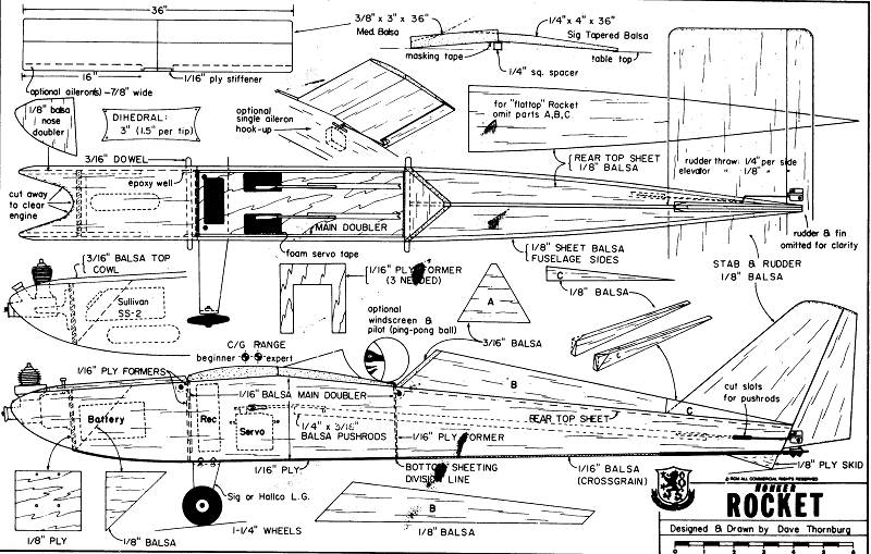 Looking for: Easy to build basic RC airplane plans Honker14