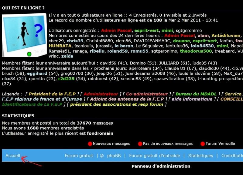 Les outils de navigation des forums de la FEP Puce_a10