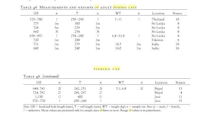 Felinos - Pesos e medidas - Página 2 Tabela11
