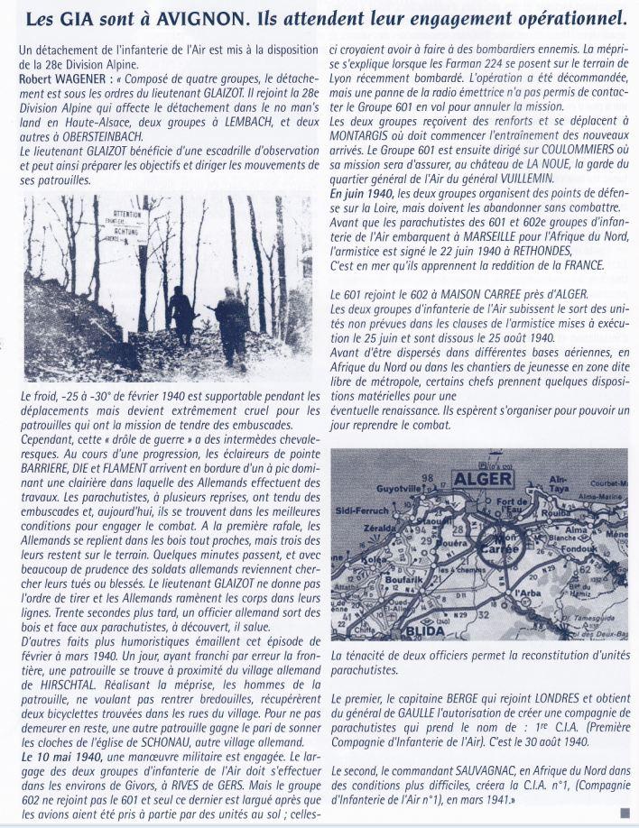 1940 les GIA sont à Avignon 194010