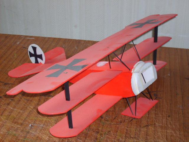 Fokker dr.1 depron Costru20