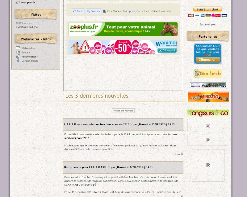 """""""Association Francophone des Amateur de Rongeurs """"AFAR"""""""", le fil de _Banzaii. Afar10"""