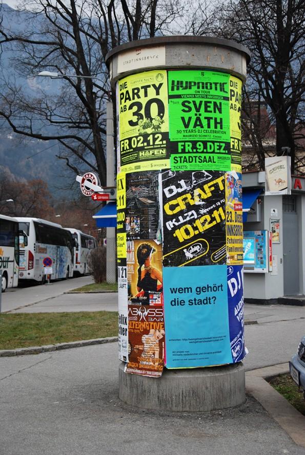 fotos von plakaten und klebern im stadtraum innsbruck Wem_ge17