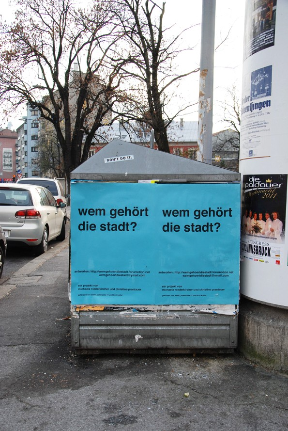 fotos von plakaten und klebern im stadtraum innsbruck Wem_ge18