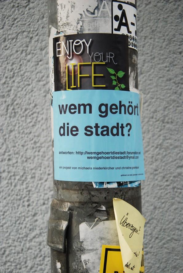 fotos von plakaten und klebern im stadtraum innsbruck Wem_ge19
