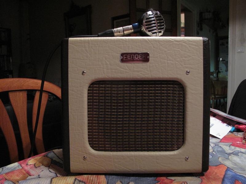 """Modifier le Fender Champion 600 avec un Weber Alnico 8"""" S Shure_21"""