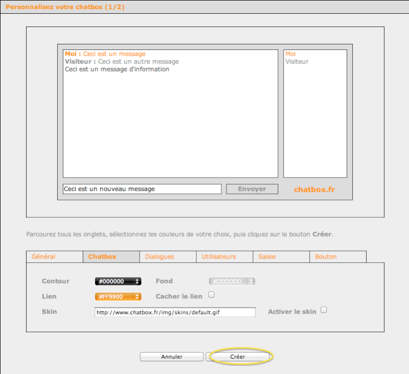 Installer une Chatbox  Captur77