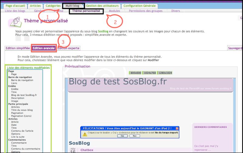 Personnaliser le fond de son Blog Captur90