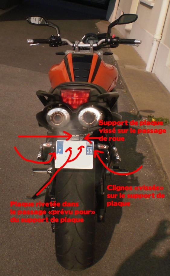 Besoin d'avis / conseils passage de roue, support de plaque et clignotants Suppor10