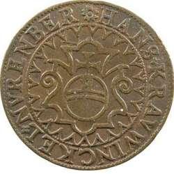 Nuremberg, jeton de compte au lion de Saint-Marc par Hans Krawinckel T02_0110