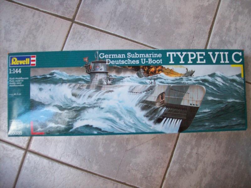 German submarine Deutsches U-boot type 7 c  de revell  1:144 101_2910