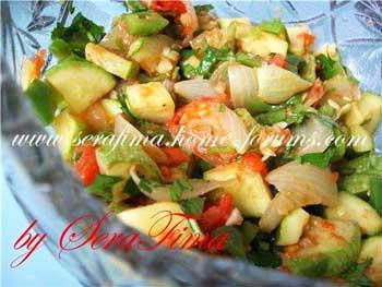 Мафкуса. Салат из печеных кабачков. Арабская кухня. 71dccf10
