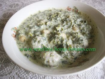 Довга с мясными фрикадельками. Азербайджанская кухня Dovga111
